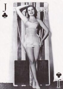 """NANCY  OLSEN- 2007 """" world  WAR II """" glamour girls """" PIN-UP playing  card"""