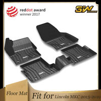VIWIK Floor Mats for 2013-2019 Ford Escape//C-Max//2015-2016 Lincoln MKC All Weather Protection Custom Full Set Liners Include 1st and 2nd Row Front /& Rear Black Car Liners
