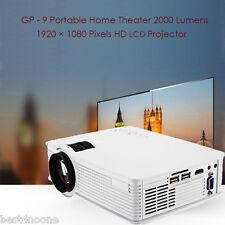GP - 9 Mini Home Theater 2000 Lumens 1920 x 1080P Multimedia HD LCD Projector EU