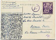 Poland Polska, Annul Tschenstochau, 1941, Stamp General Gouvernement 30 m