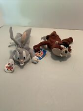 Vintage Collectible 1996 Bugs Bunny And Tasmania 7� Plush Brand Looney Tunes