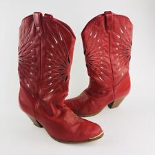 Women's Vintage Dingo Red Leather Western/Cowgirl Boots Size 7.5 M