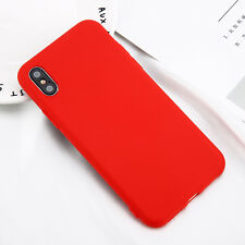 For iPhone X 8 Plus 7 5S Luxury Ultra Slim Soft TPU Silicone Gel Back Case Cover