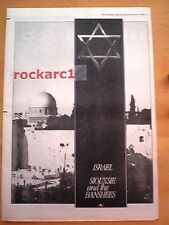 SIOUXSIE & Banshees Israel 1980 UK Poster size Press ADVERT 16x12 inches