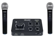 Hisonic HS223 Digital Smart Home Karaoke Sound Mixer Dual UHF Microphone