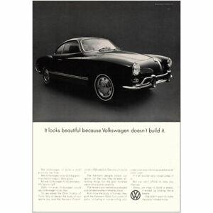1969 Volkswagen: Karmann Ghia Looks Beautiful Because Vintage Print Ad