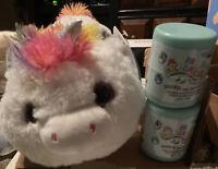"Squishmallow Sofia Huggapals 13"" Plush Unicorn Stuffed Animal Kellytoy & 1 2.5"""