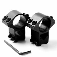 2PCS High Profile 25.4mm Ring 11mm Dovetail Rail Scope mount rifle sight Alum