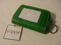 NWT - CUTE POPPIE JONES WALLET ID CREDIT CARD HOLDER GREEN