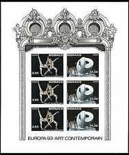 1993 MONACO BLOC N°61a NON DENTELE EUROPA xx