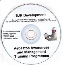 Asbestos Control & Awareness Record Keeping Safety Training Materials Resource
