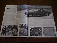 1979 FIAT X1/9 ***ORIGINAL ARTICLE / ROAD TEST*** X 1/9
