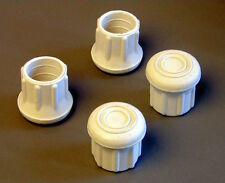 """4 Pack 3/4"""" Rubber Tips- Cane, Crutch or Chair- White                   CT-750-W"""