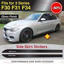 M Performance Leistung Seitenschweller Aufkleber für BMW F30 F31 F34 3er GLANZ