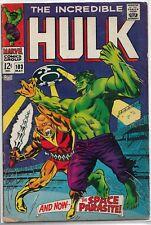 Incredible Hulk #103 (1968) Marvel Silver Age Comic Fn/Fn+ (Vs. Space Parasite)