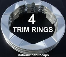 "Set of 4 PRIUS 15"" Alloy Wheel Trim Rings Beauty Rims Cover 6 Spoke 5 Lug Wheels"