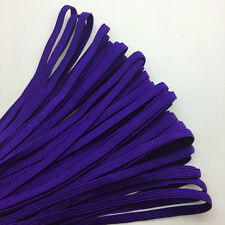 """5yds 1/4"""" 6mm Thickening Satin Elastic Band Trim Sewing Spandex Lace Pick color"""