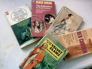 5 X  Donald Hamilton & other Authors Vintage Paperback The Ambushes   1960s