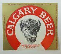 Calgary Beer Label Calgary Brewing & Malting Vancouver Canada / Buffalo N.Y.