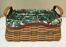 Longaberger 2002 Christmas Collection Basket with Liner & Protector Signed