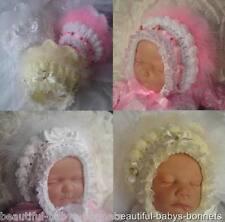 CROCHET PATTERN by Beautiful-Babys-Bonnets Girls Lace Vintage Style Hat 0-6m #18