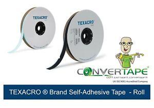 TEXACRO® by Velcro - Hook and Loop Tape Self Adhesive Black White 107,50,25mm