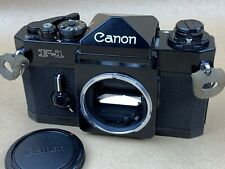 Canon F1 Black 35mm Film Camera Body - Clean & Working