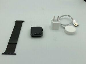 Apple Watch Series 2 GPS Black Stainless Steel 42mm W/ Black Milanese Loop Good