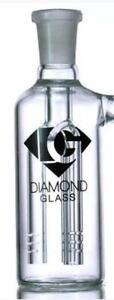 Diamond Glass - 19mm & 45 Degree Ash Catcher With 3 Arm Tree Perc