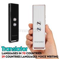 70 + Sprachen Übersetzung Reise 2-Way Echt Zeit Stimme Translator Devas Ab