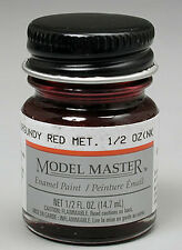 Testors Burgundy Red Metallic 1/2 oz Enamel Paint 2705 TES2705
