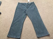 M&s Limited Edition Black Denim Cropped Flare Jeans Size 16 Bnwt Free Sameday Pp