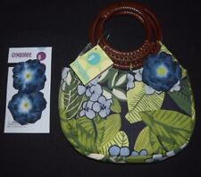 NWT Girl Gymboree Costa Rica Purse Reversible Flower Hair Accessories Navy Green
