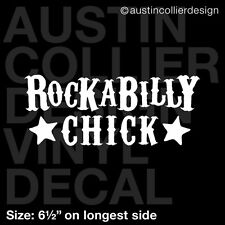 "6.5"" ROCKABILLY CHICK vinyl decal car truck window laptop sticker - rock music"