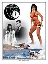 "Caroline Munro James Bond 007 Montage Artwork Tribute 16"" x 12"" Photo Poster"