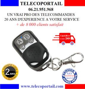 TELECOMMANDE UNIVERSELLE DE PORTAIL 433.92 MHZ COPIEUSE 4 CANAUX