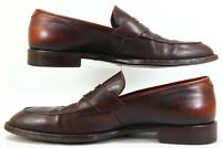 Giorgio  Armani  Brown Leather Loafers Slip On Men's Size 41 US 7.5