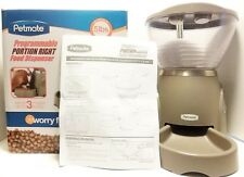 Petmate Programmable Portion Right Dog Cat 5 lb Dry food dispenser Tested Works