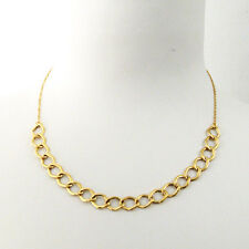 """18"""" Solid ITALIAN Yellow Gold 18K women necklace 46 cm chain MADE IN ITALY"""