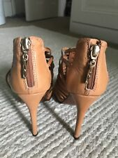 DVF Diane Von Furstenberg tan strappy sandals 37 US size 6 tan