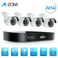 A-ZONE 1080P 8CH DVR AHD Security Camera System Home Surveillance Night Vision