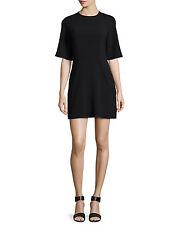 Black Halo Half Sleeve fit & Flare Black Dress Sz 8 New