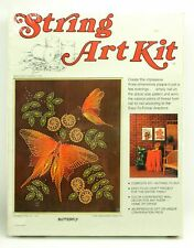 New Vintage 1970s McCulla Crafts String Art Kit BUTTERFLY Mid Century 3D Plaque