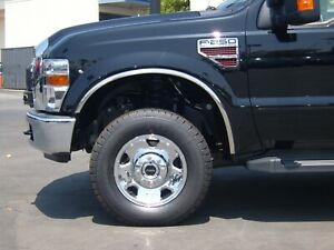 Ford F-250/350 Super Duty 2008-2010 TFP Stainless Fender Trim - 1 YEAR WARRANTY