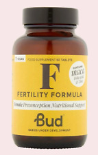 BUD Nutrición Femenino Fertilidad Fórmula 60's + Cinc Folato Vitamina D Maca