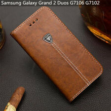 For Samsung Galaxy Grand 2 Duos G7106 G7102 Wallet Cover 5.25'' Pu Leather Case
