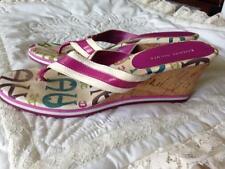 Etienne Aigner Rose 2 3/4 Inch Wedge Cork Heel Sandal/Thong Size 8 1/2 Medium
