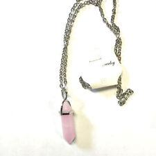 Rose Quartz Alloy Gemstone Costume Necklaces & Pendants