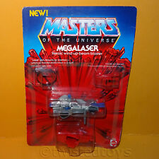 VINTAGE 1985 80s MATTEL MOTU HE-MAN MEGALASER BEAM BLASTER MOC OPENED CARDED