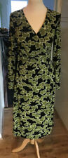 Women's Artigiano Green and black wrap over dress size 8